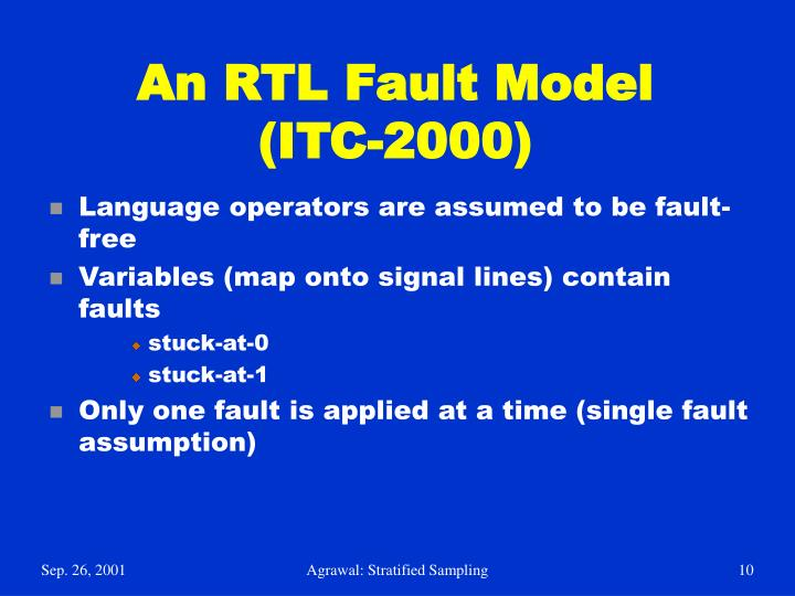 An RTL Fault Model