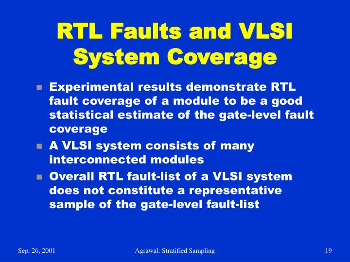 RTL Faults and VLSI System Coverage