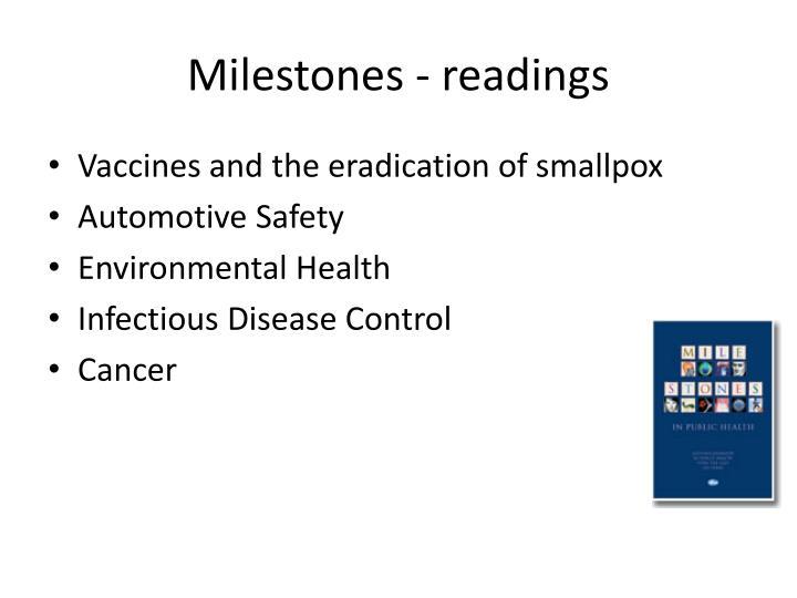 Milestones - readings