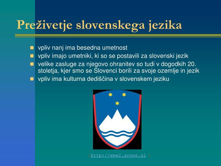 Preživetje slovenskega jezika
