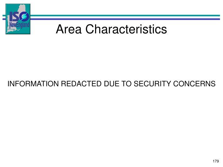 Area Characteristics