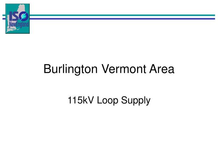 Burlington Vermont Area
