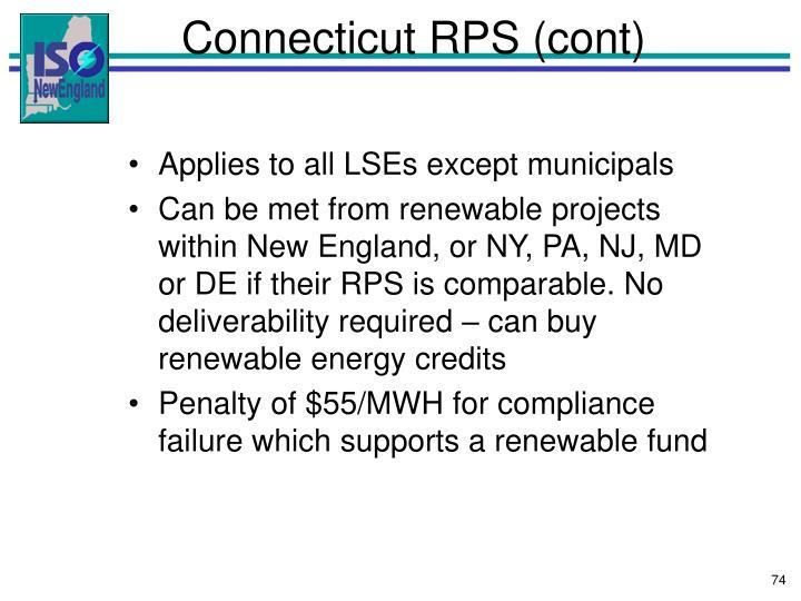 Connecticut RPS (cont)