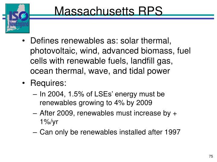 Massachusetts RPS