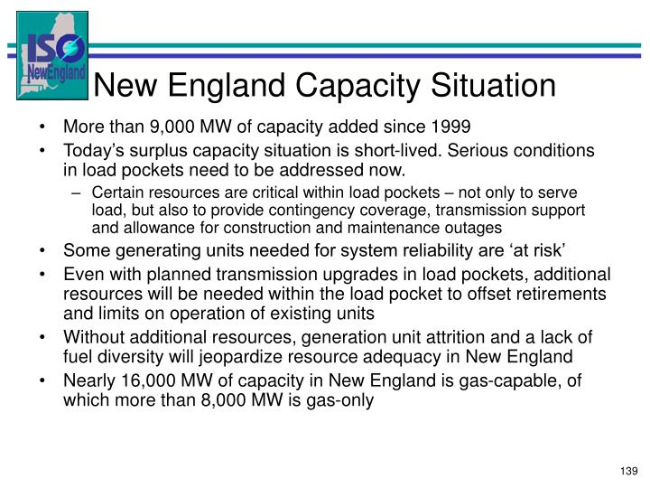 New England Capacity Situation