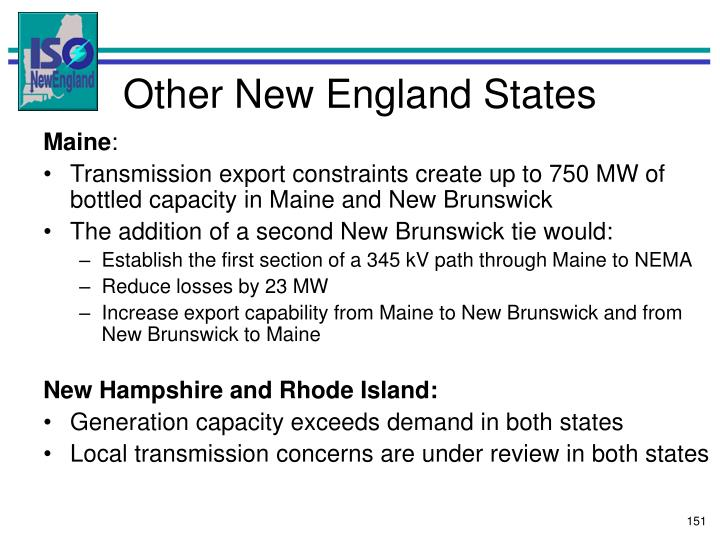 Other New England States