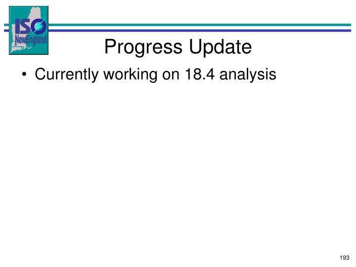 Progress Update