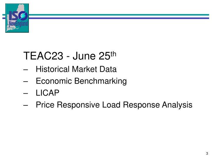 TEAC23 - June 25