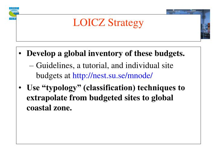Develop a global inventory of these budgets.