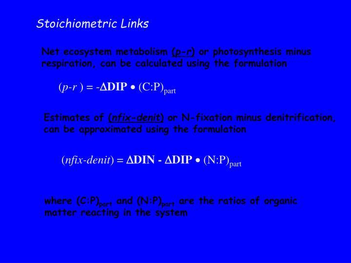 Stoichiometric Links