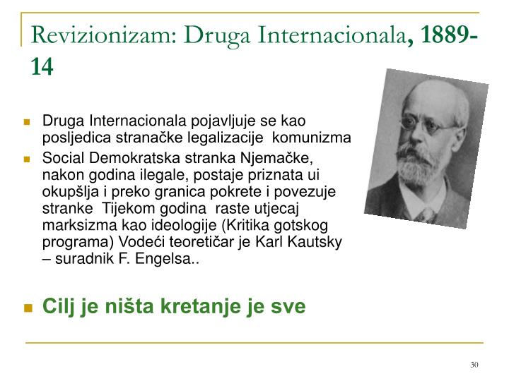 Revizionizam: Druga Internacionala