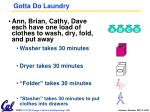 gotta do laundry