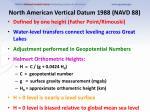 north american vertical datum 1988 navd 88