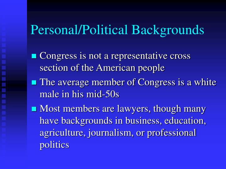 Personal/Political Backgrounds