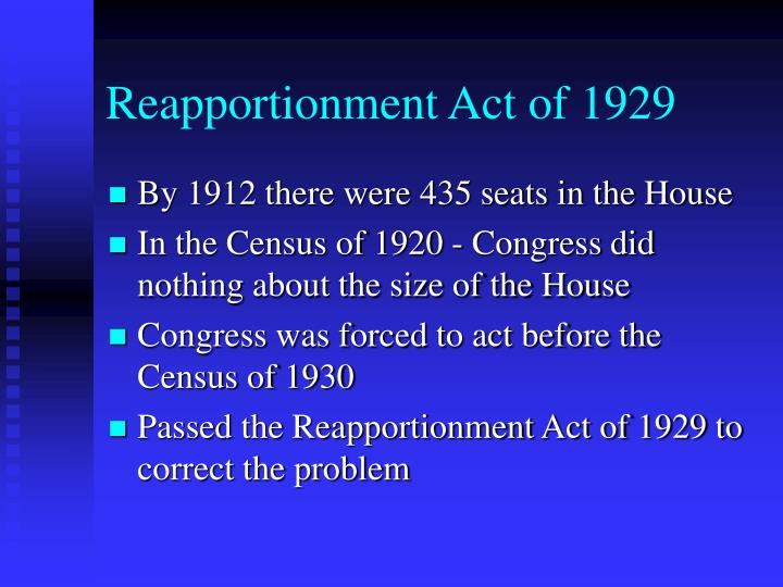 Reapportionment Act of 1929