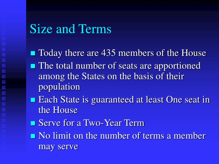 Size and Terms