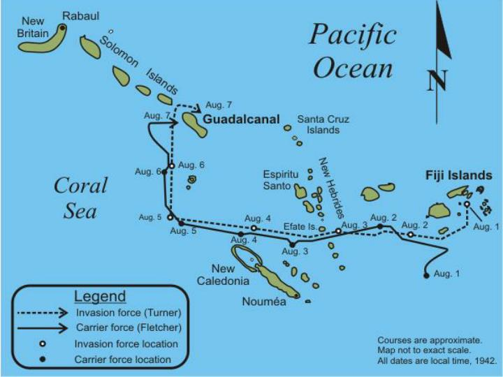 Japanese Take over Guadalcanal