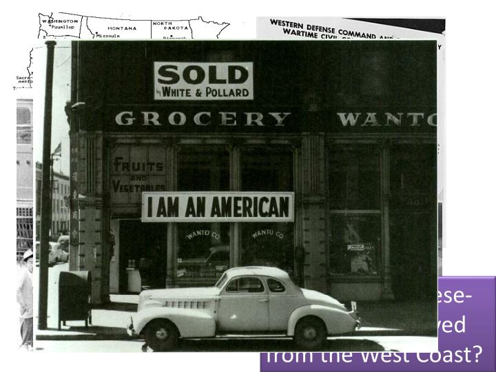 By Executive Order 9066 the United States begin to move people of Japanese Ancestry into Internment Camps.