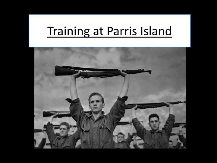 Training at Parris Island
