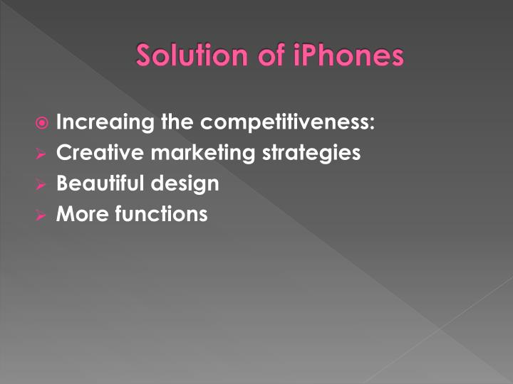 Solution of iPhones