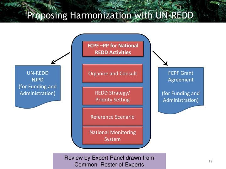 Proposing Harmonization with UN-REDD