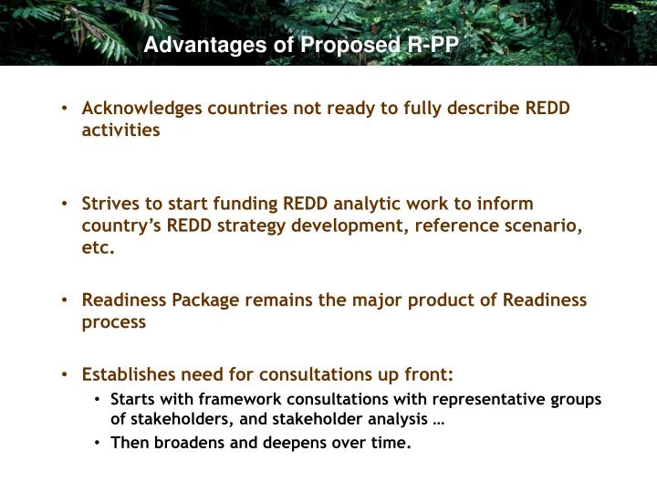 Advantages of Proposed R-PP