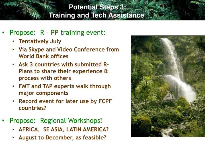 Potential Steps 3: