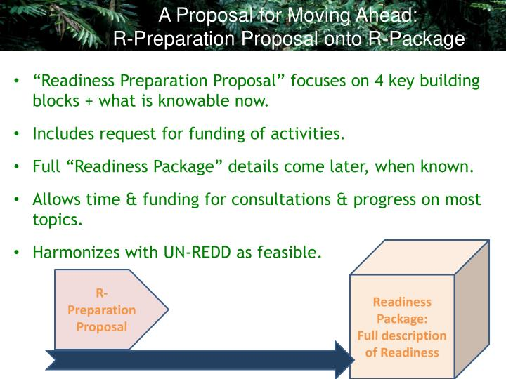 A Proposal for Moving Ahead: