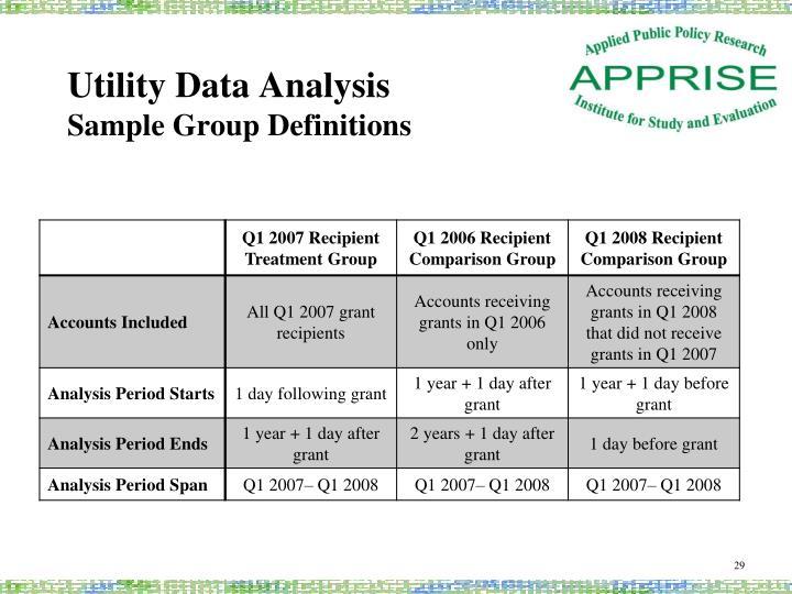 Utility Data Analysis