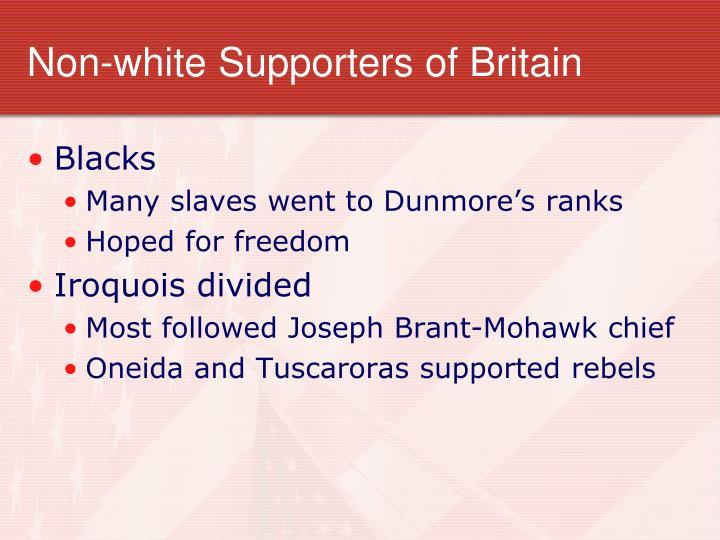 Non-white Supporters of Britain