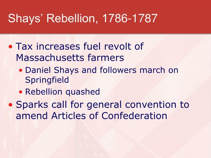 Shays' Rebellion, 1786-1787