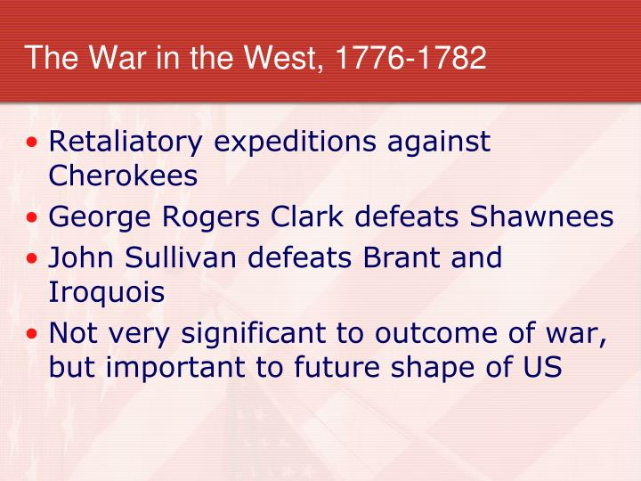 The War in the West, 1776-1782
