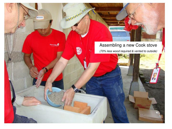 Assembling a new Cook stove