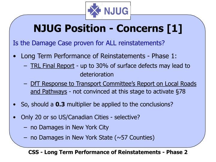 Njug position concerns 1
