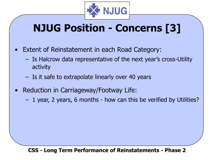 NJUG Position - Concerns [3]
