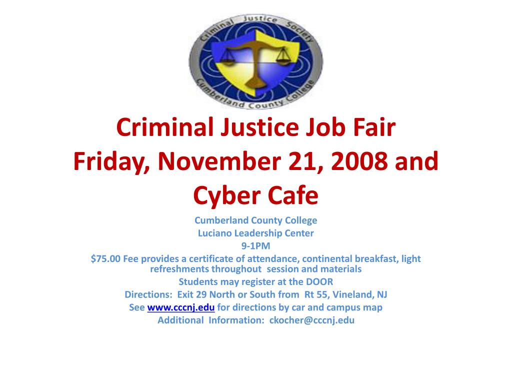 Cumberland County College Campus Map.Ppt Criminal Justice Job Fair Friday November 21 2008 And Cyber