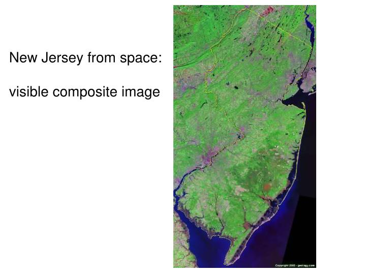 New Jersey from space: