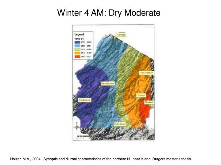 Winter 4 AM: Dry Moderate
