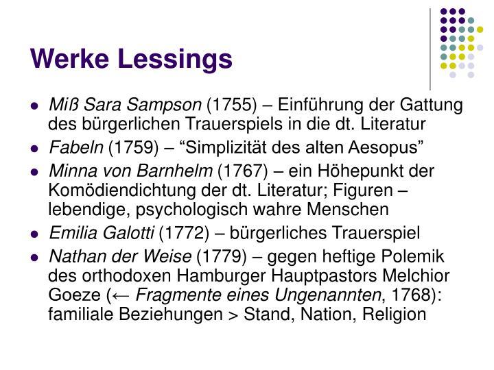 Werke Lessings