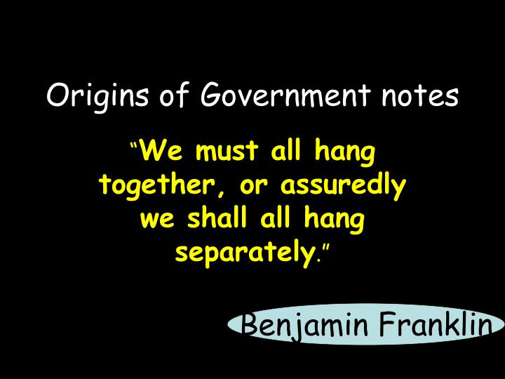 origins of government notes n.
