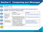 section 3 composing your messages1
