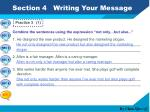 section 4 writing your message