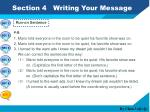 section 4 writing your message6