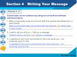 section 4 writing your message7