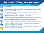 section 4 writing your message8