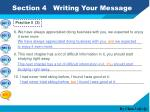 section 4 writing your message9