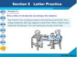 section 5 letter practice5