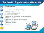 section 6 supplementary materials