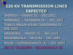 220 kv transmission lines expected