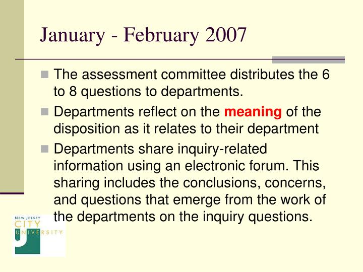 January - February 2007
